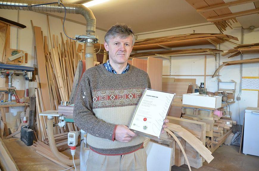 Tischlerei Johann Fank aus Vorau in der Steiermark wird ausgezeichnet als Firma mit Handschlagqualtiät!