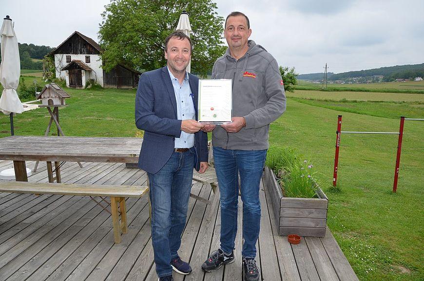 Installationstechnik Ronald Vollmann aus Neusiedl bei Güssing wird ausgezeichnet als Firma mit Handschlagqualität!