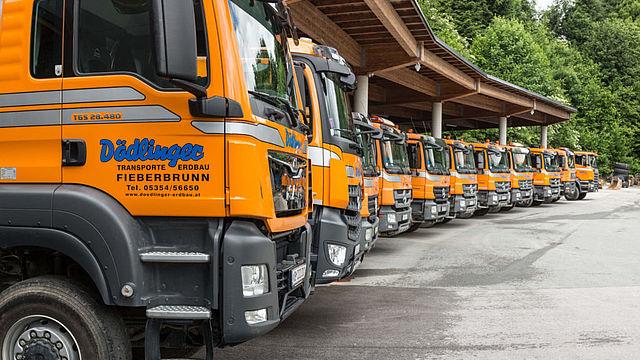 Transporte Erdbau Dödlinger Fieberbrunn bei Kitzbühel